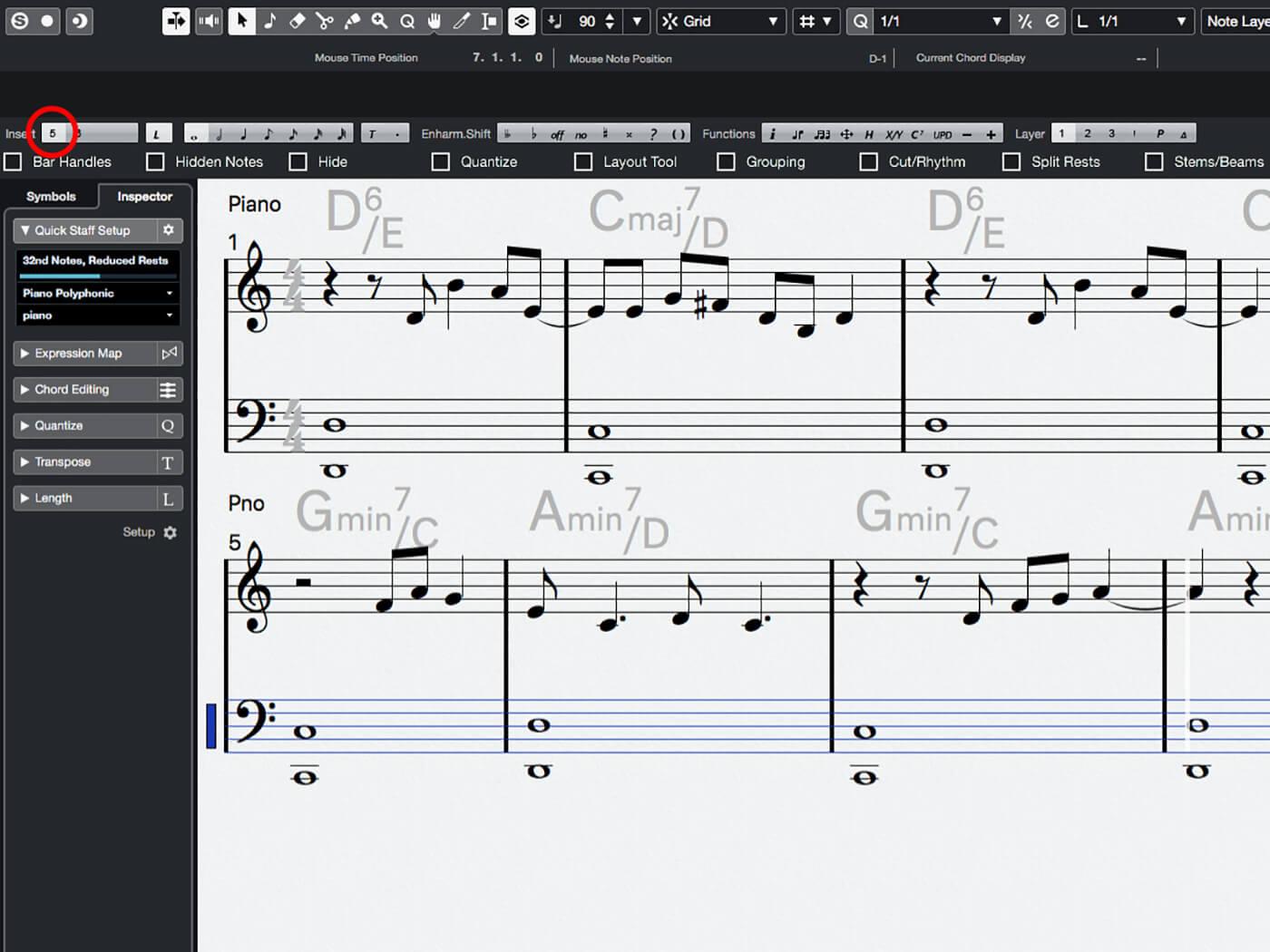 MT 205 Cubase Score Editor Step 14