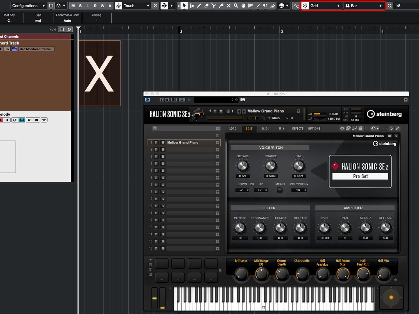 MT 205 Cubase Score Editor Step 2