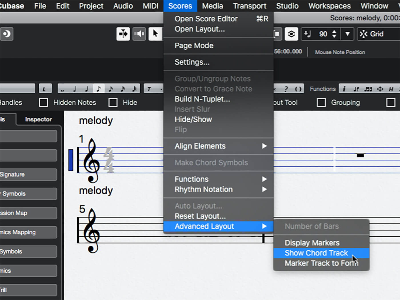 MT 205 Cubase Score Editor Step 7