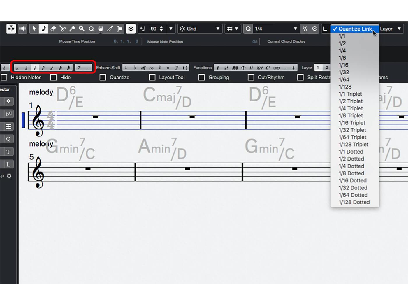 MT 205 Cubase Score Editor Step 8
