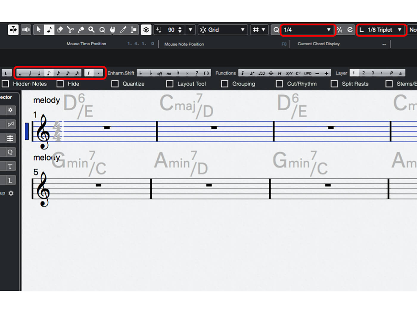 MT 205 Cubase Score Editor Step 9