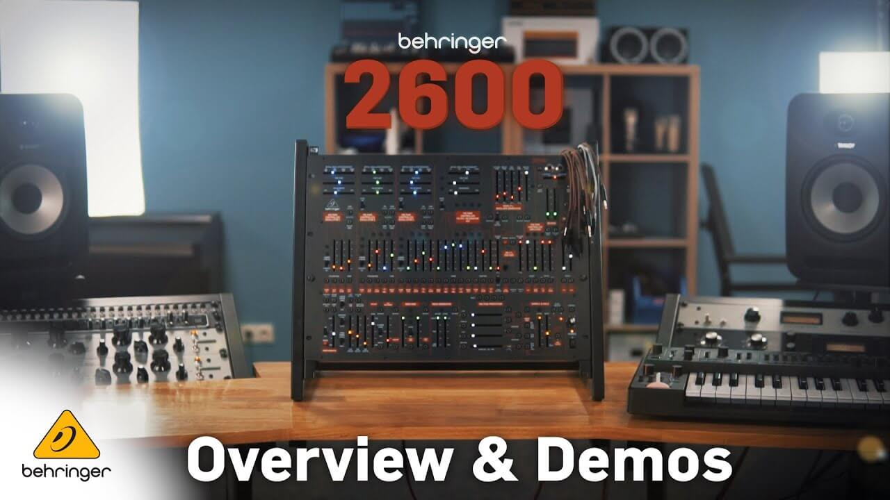 Behringer gives a full video demo of its 2600 synth - MusicTech