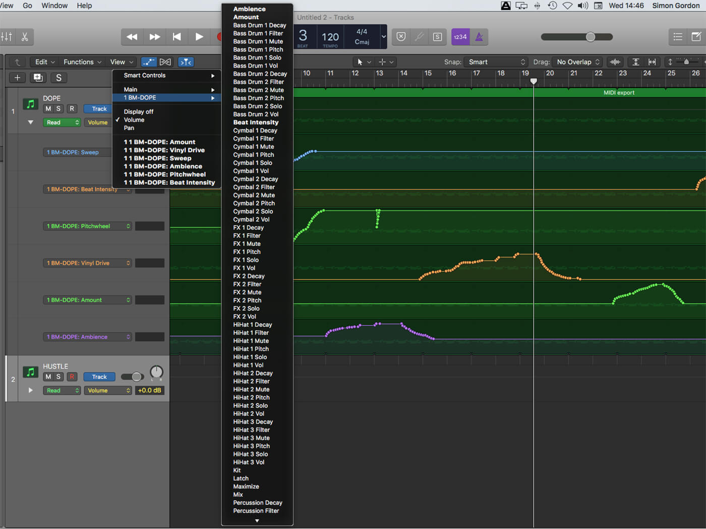 Ujam Beatmaker 2 Automation Parameters