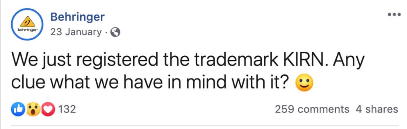 Behringer Kirn trademark
