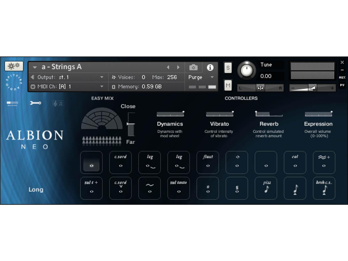 Spitfire Audio Albion Neo GUI
