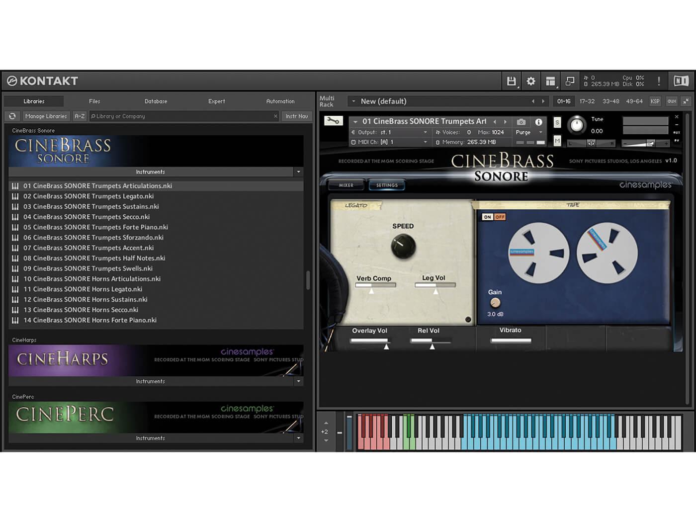 CineBrass Sonore GUI 2