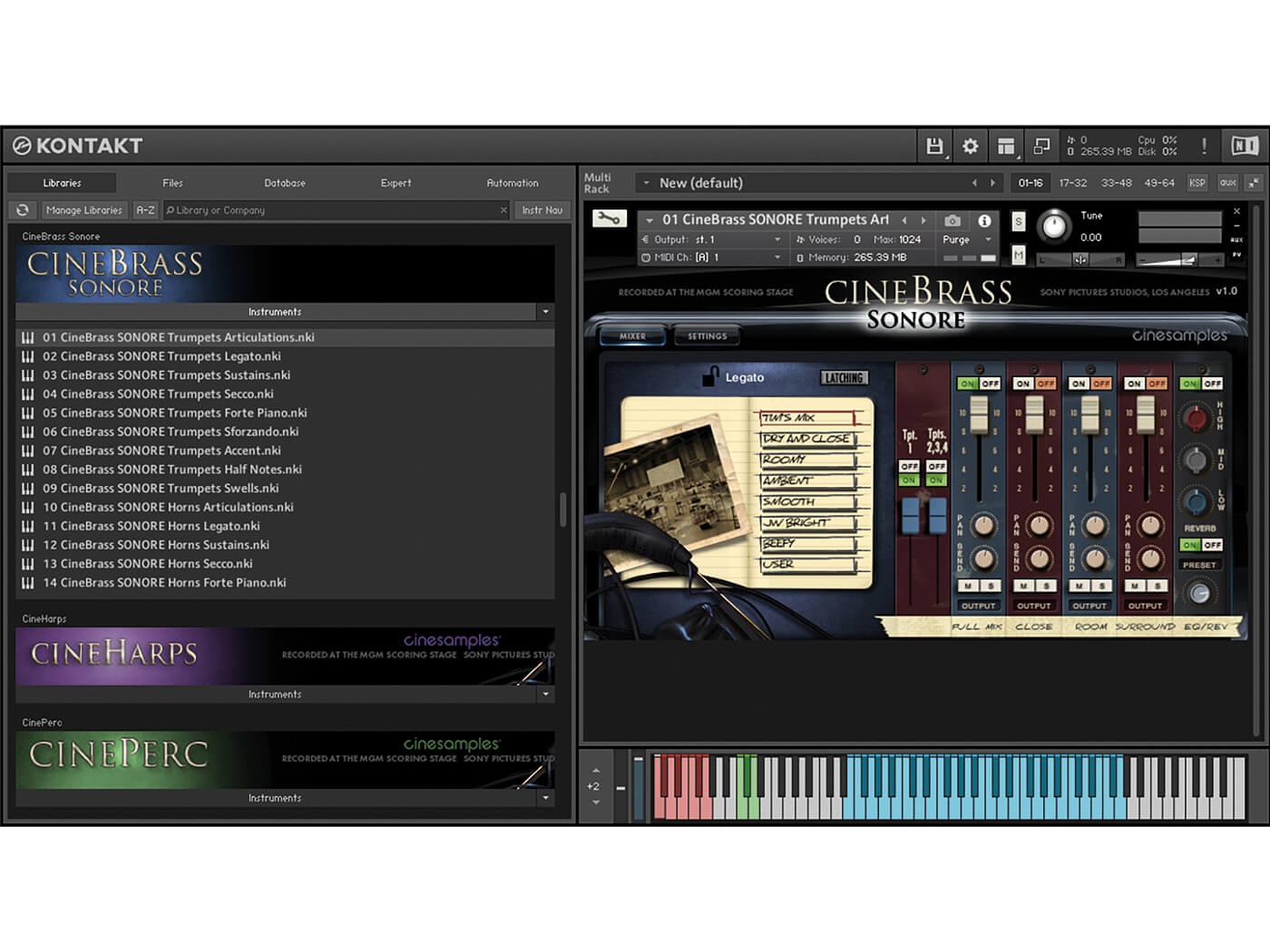 CineBrass Sonore GUI 3