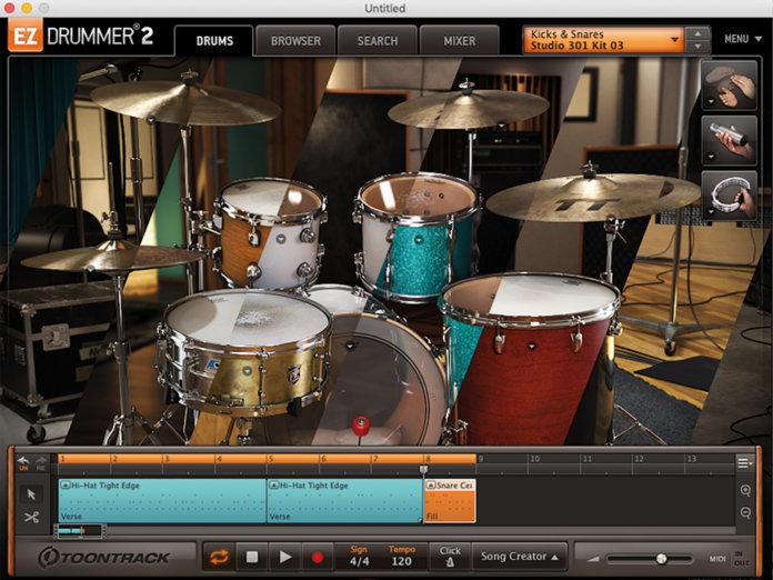 Toontrack EZDrummer 2 GUI