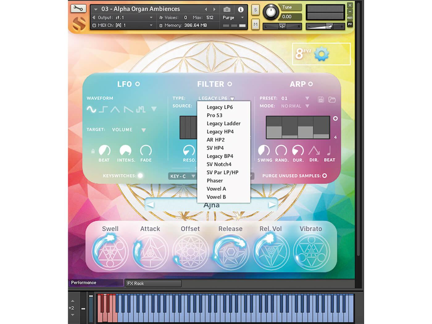 Soundiron Alpha Organ GUI
