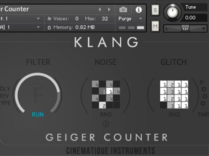 Cinematique Klang Geiger Counter Screenshot