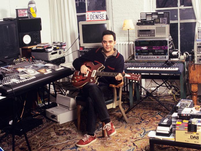 Adam Schlesinger in his studio