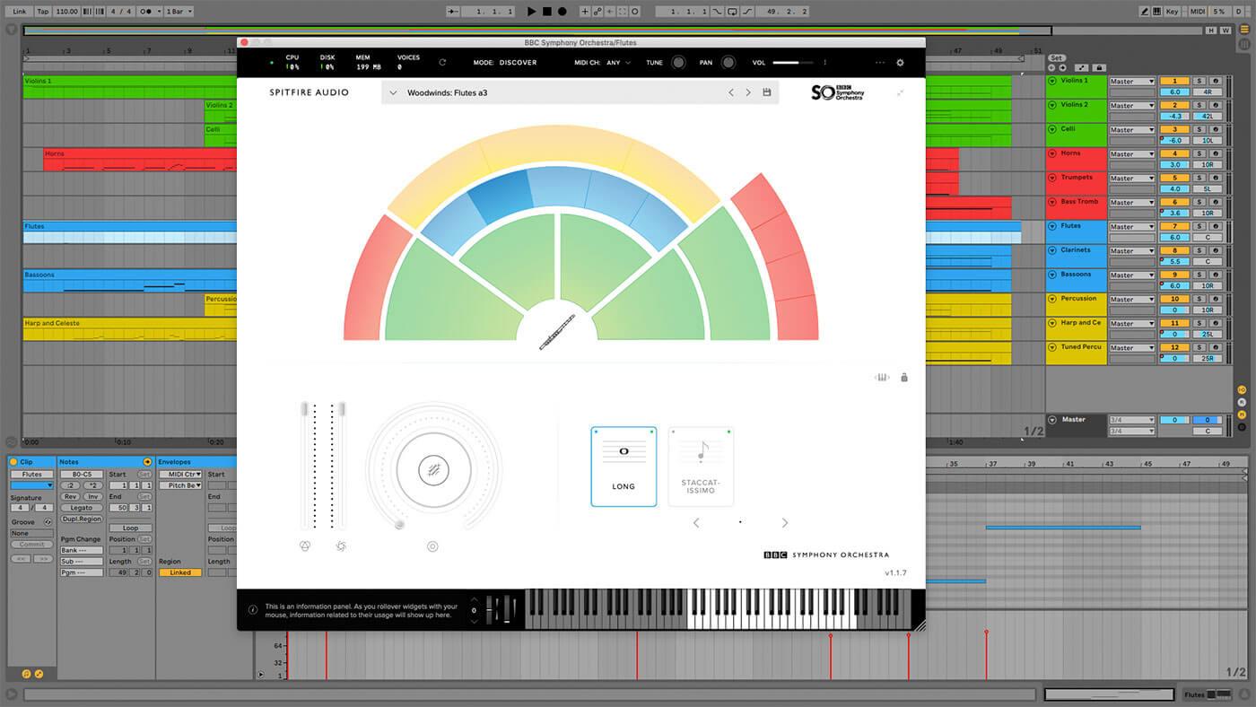 Spitfire Audio Discover GUI