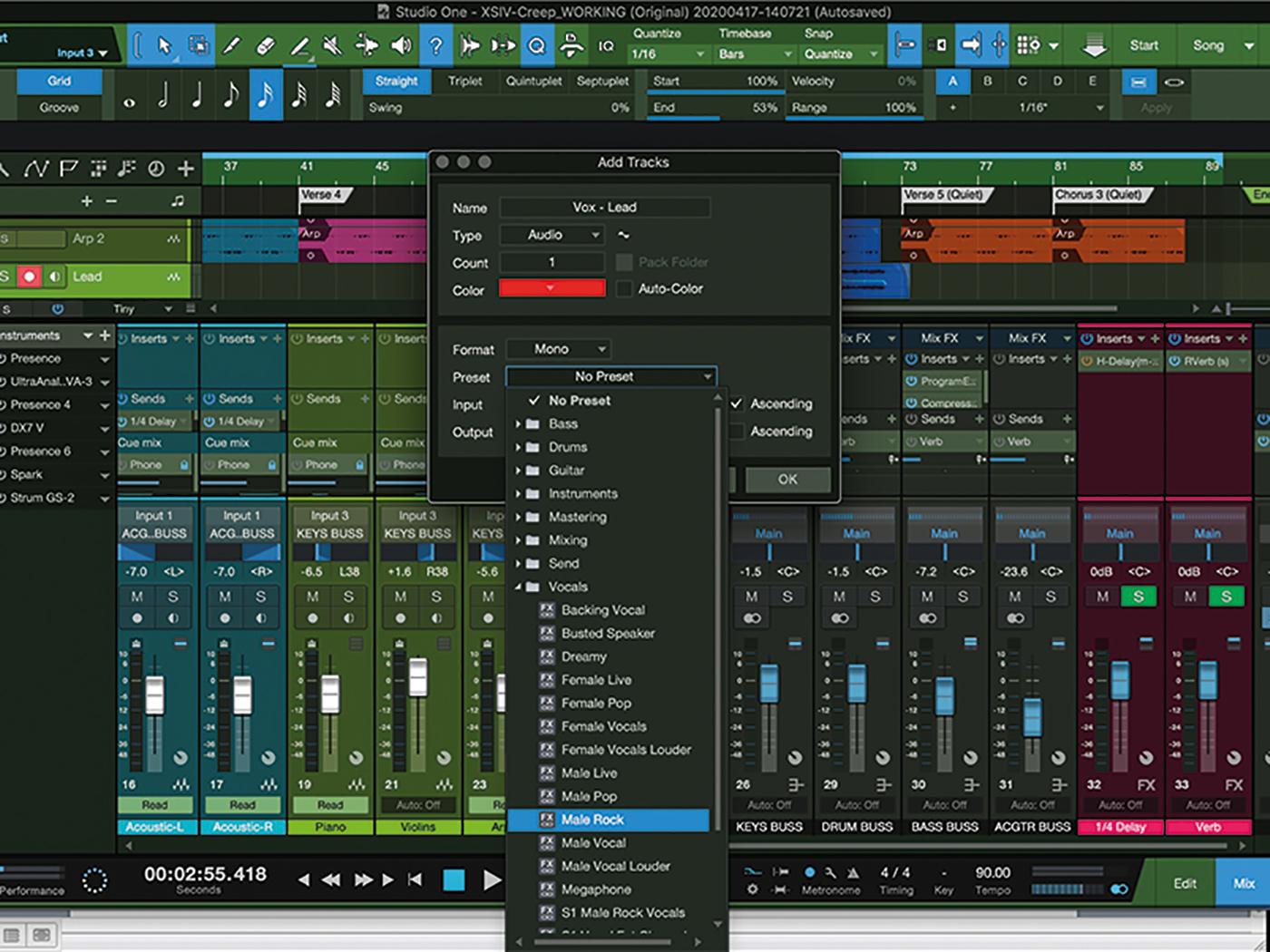 MT207 Studio One Recording Vocals 6