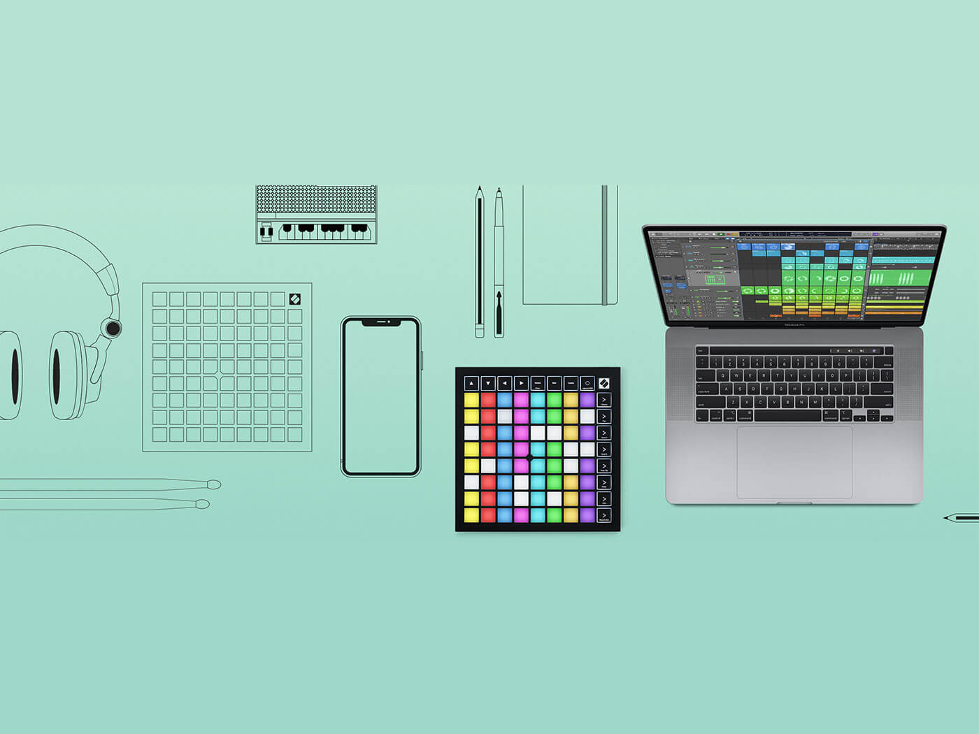 Logic Pro X 10 5 Offers Support For Novation S Launchpad Series Musictech