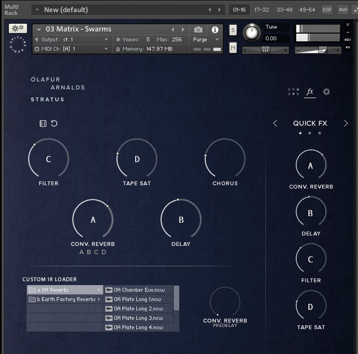 Spitfire Audio Ólafur Arnalds Stratus FX