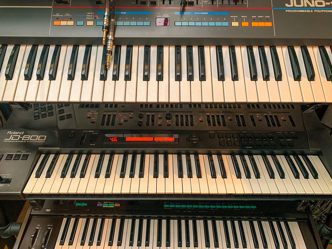Rodriguez Jr's Juno 106 & JD800 & DX7
