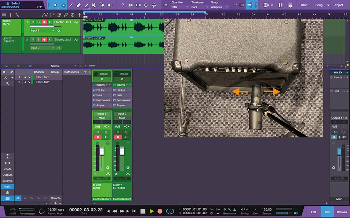 Recording Guitars In Studio One 11