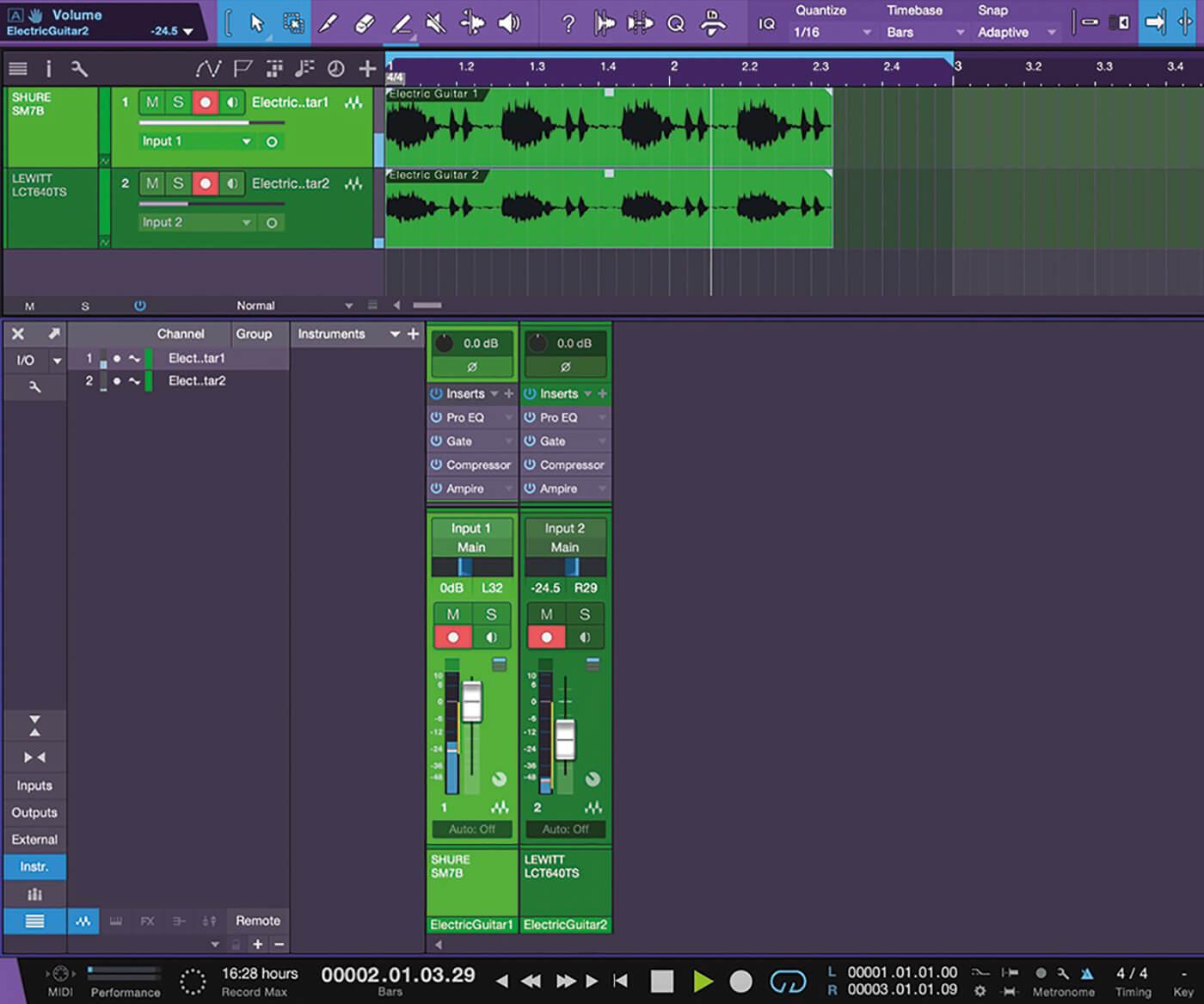Recording Guitars In Studio One 14
