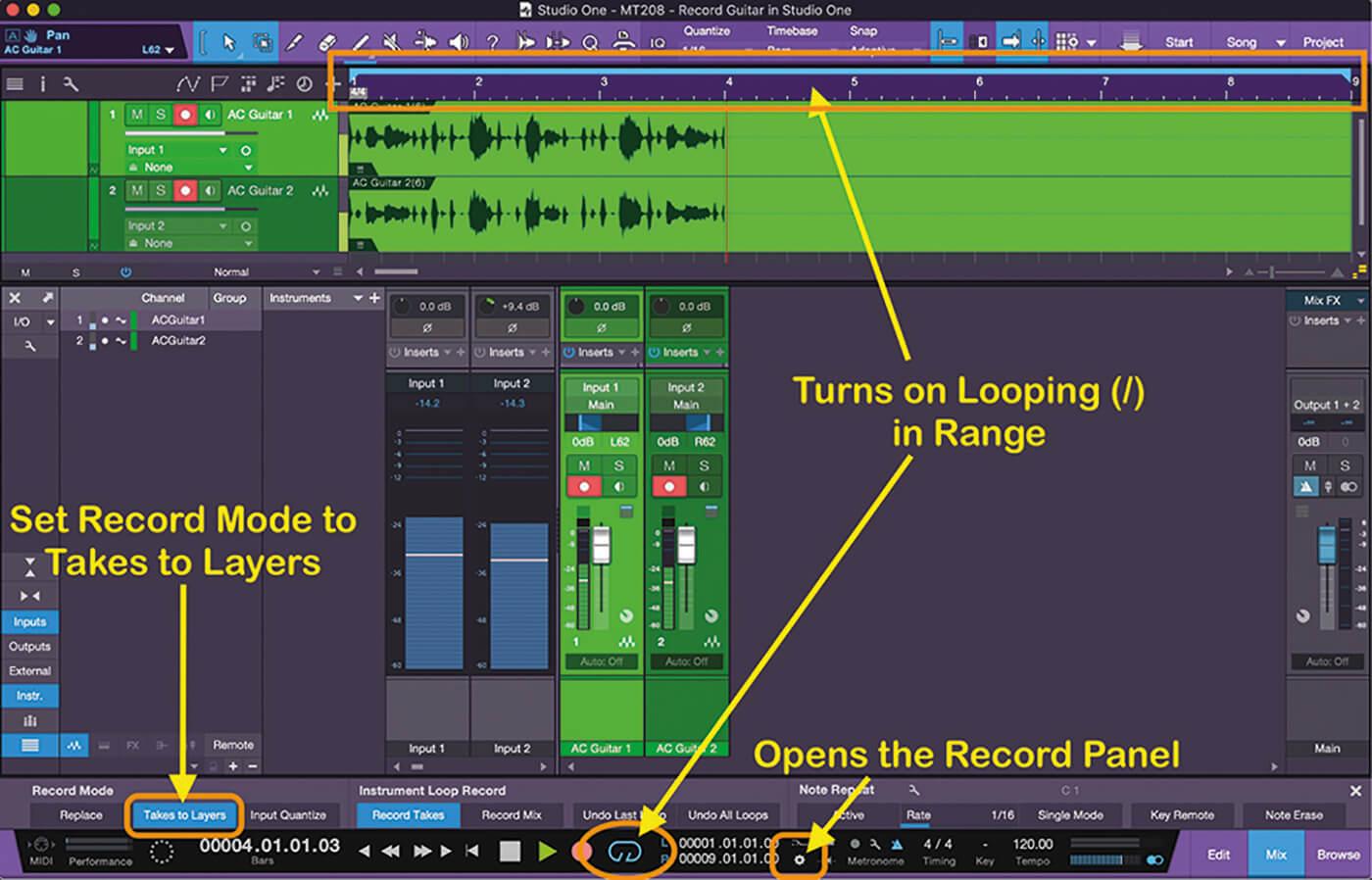 Recording Guitars In Studio One 15