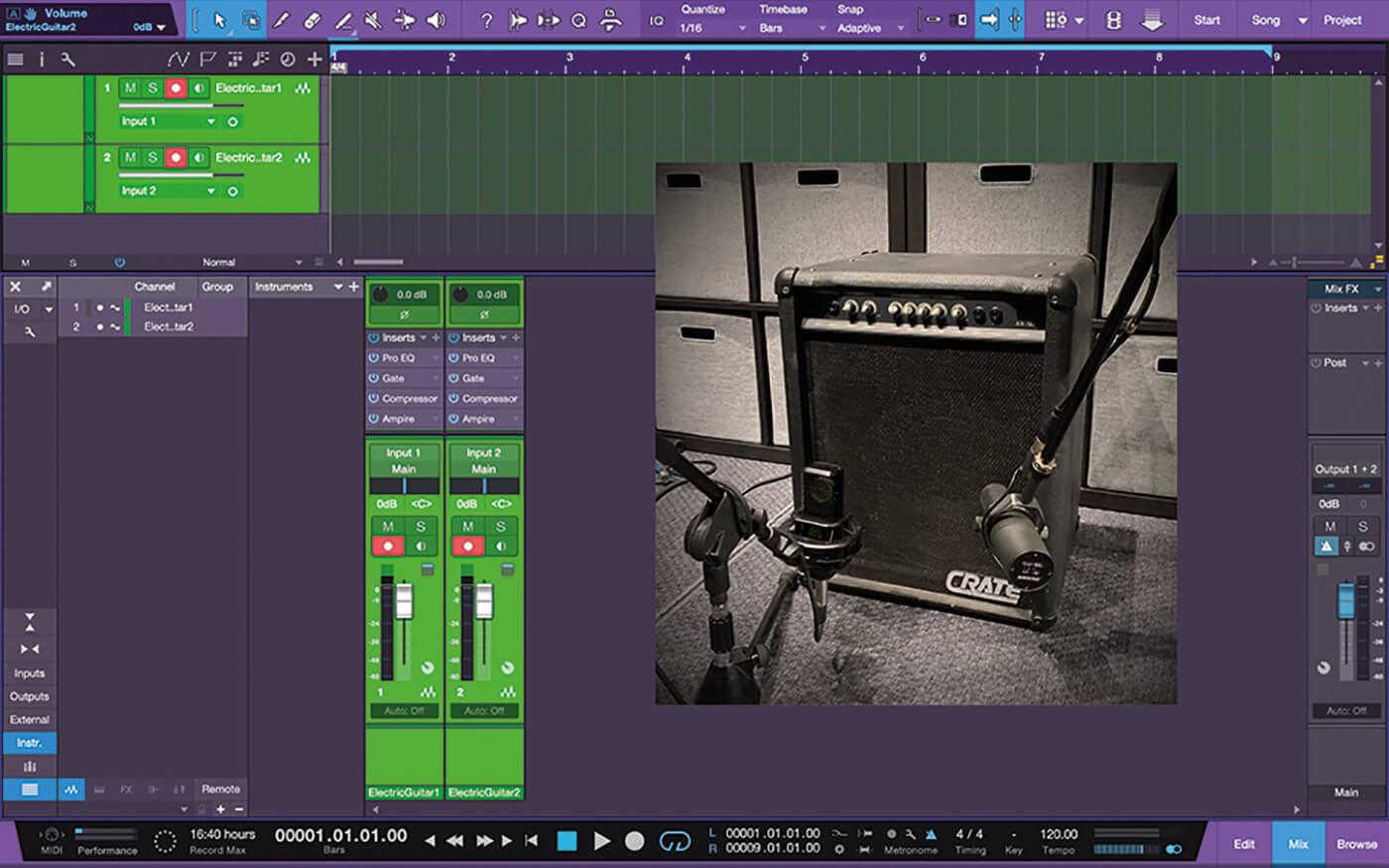 Recording Guitars In Studio One 9