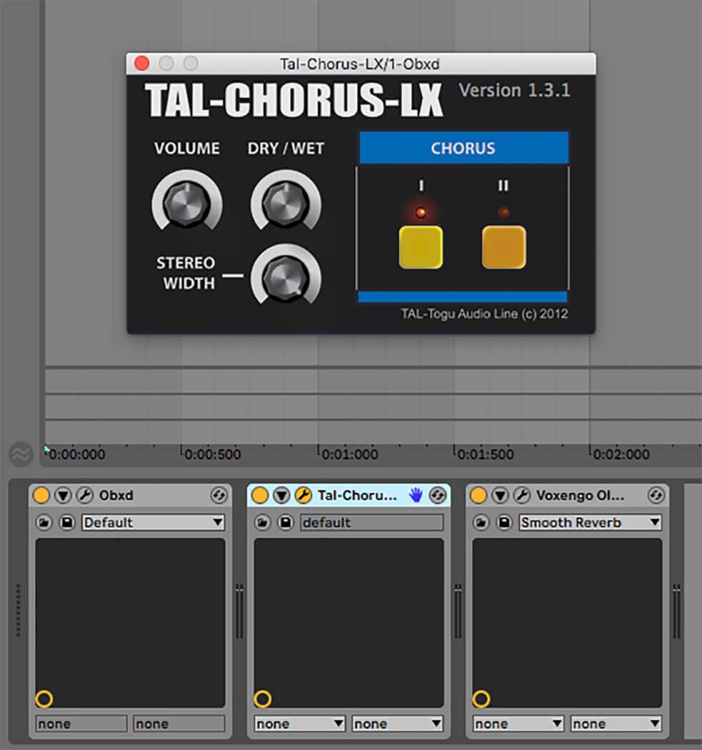 P26 - adding chorus to the patch