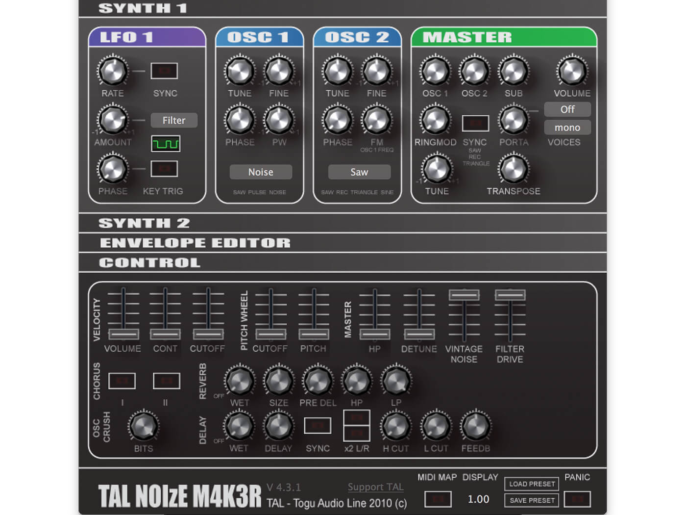 WW-TAL-Noisemaker-P15 - Vintage Noise and Filter Drive