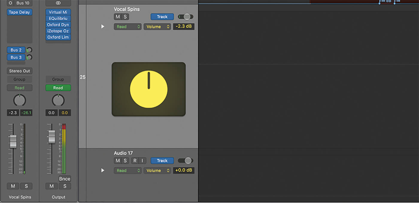 Automating Aux EFX 1-5