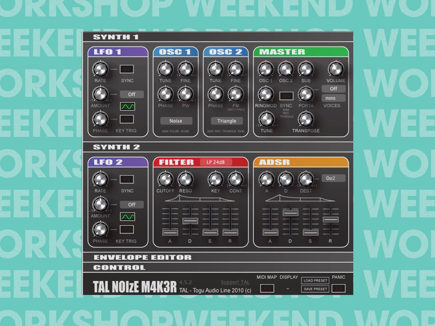 Weekend Workshop Drum Synthesis TAL-Noisemaker