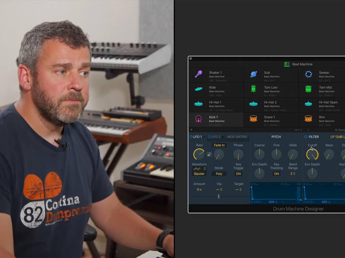Logic Pro x drum machine designer