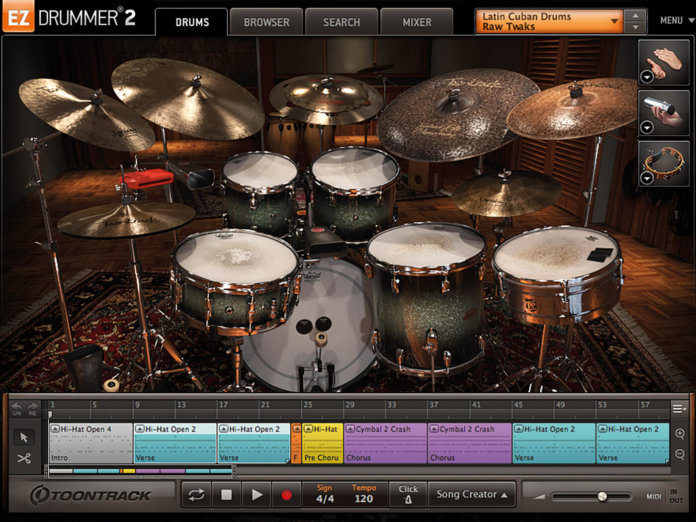 Toontrack Latin Cuban Drums and Percussion Interface