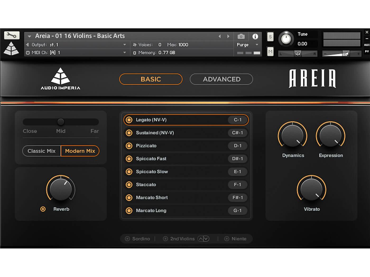 Audio Imperia Areia UI