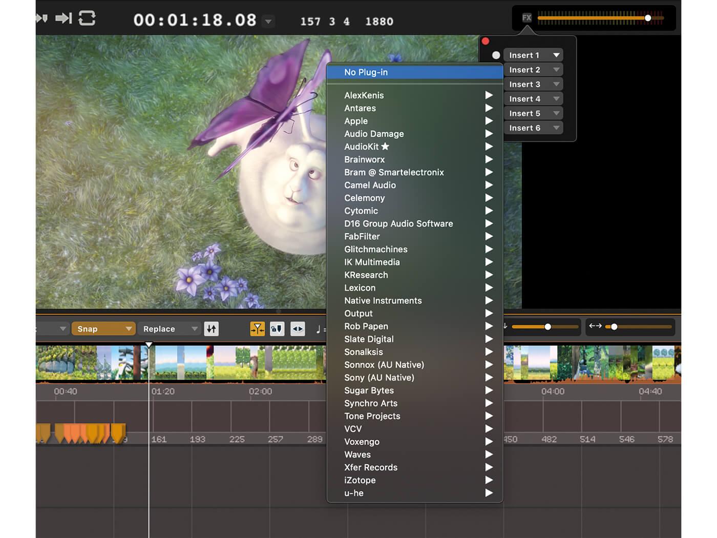Audio Desk Design Master Output FX Inserts