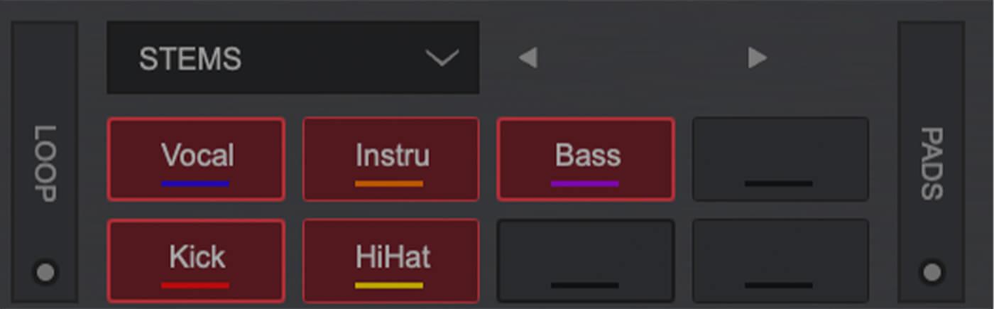 Virtual DJ Performance pads