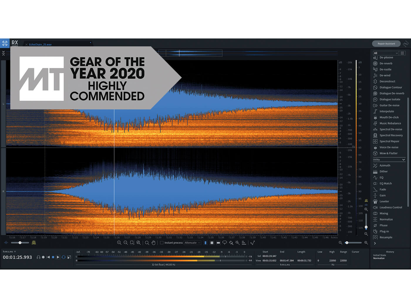 Best Software Utility Highly Commended iZotope
