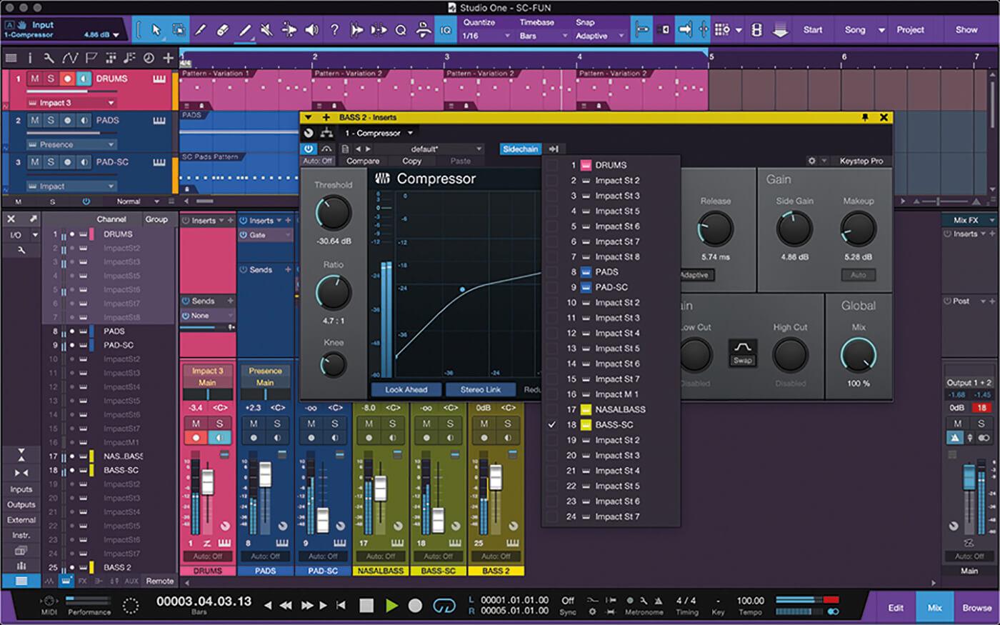 PreSonus Studio One Side Chain 12