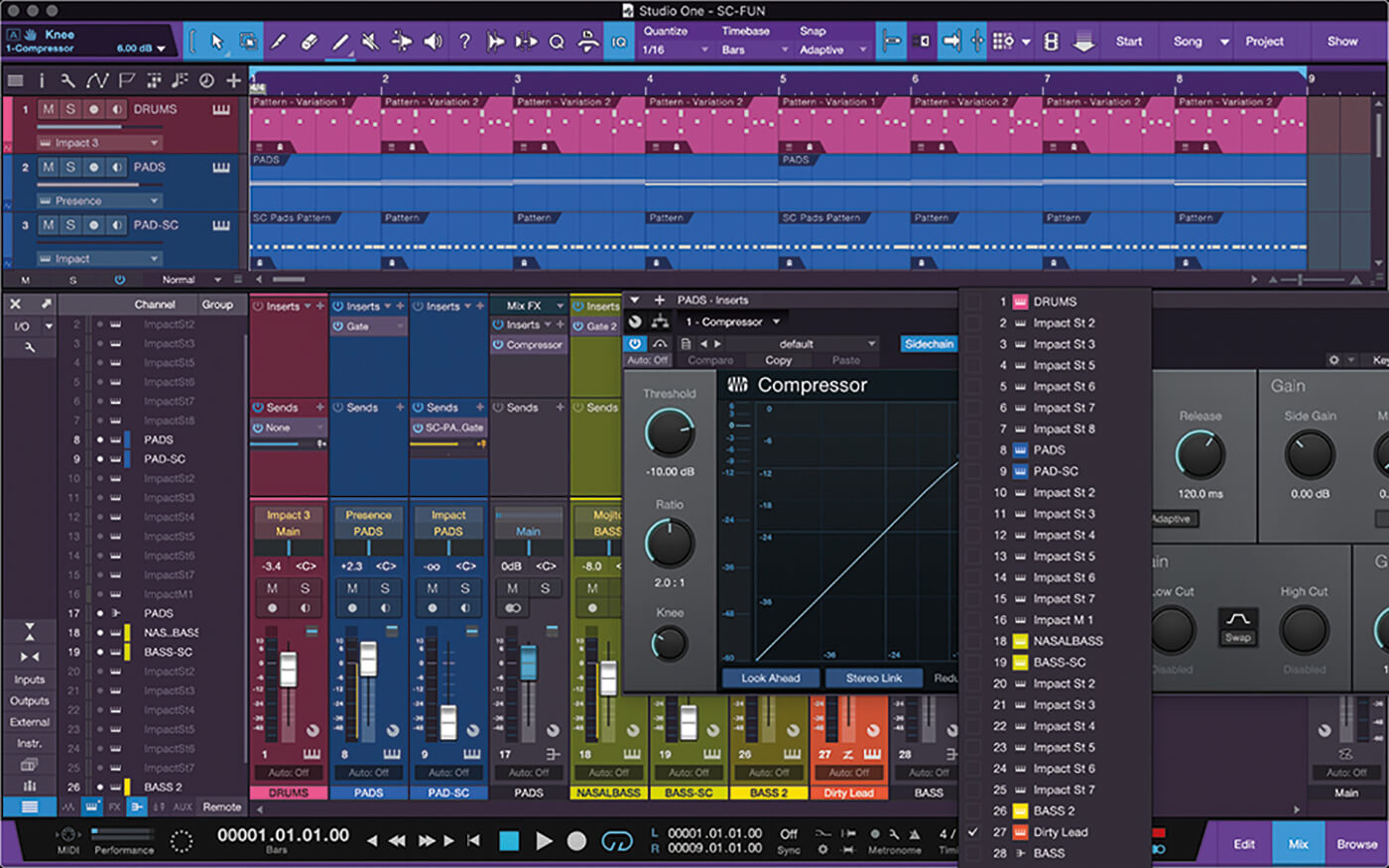 PreSonus Studio One Side Chain 15