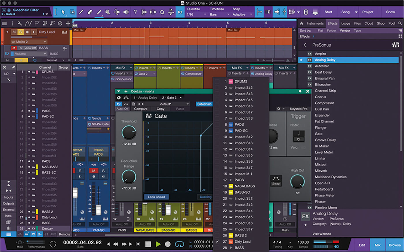 PreSonus Studio One Side Chain 17