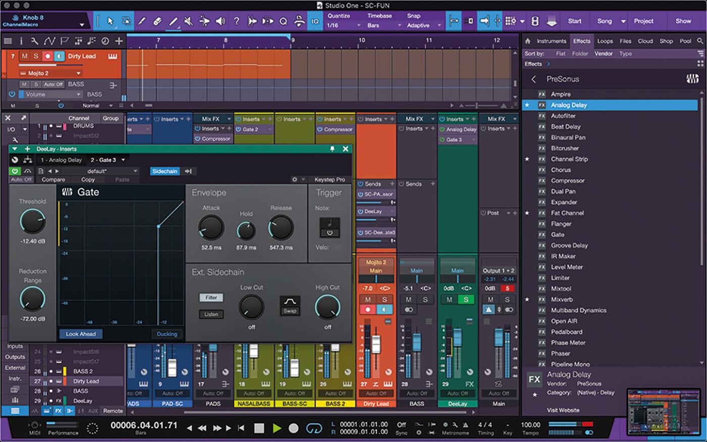 PreSonus Studio One Side Chain 18