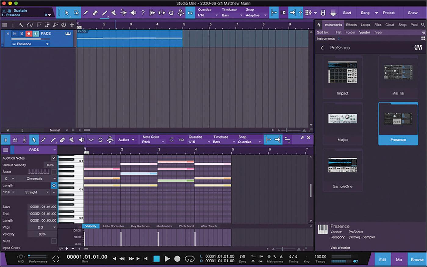 PreSonus Studio One Side Chain 2