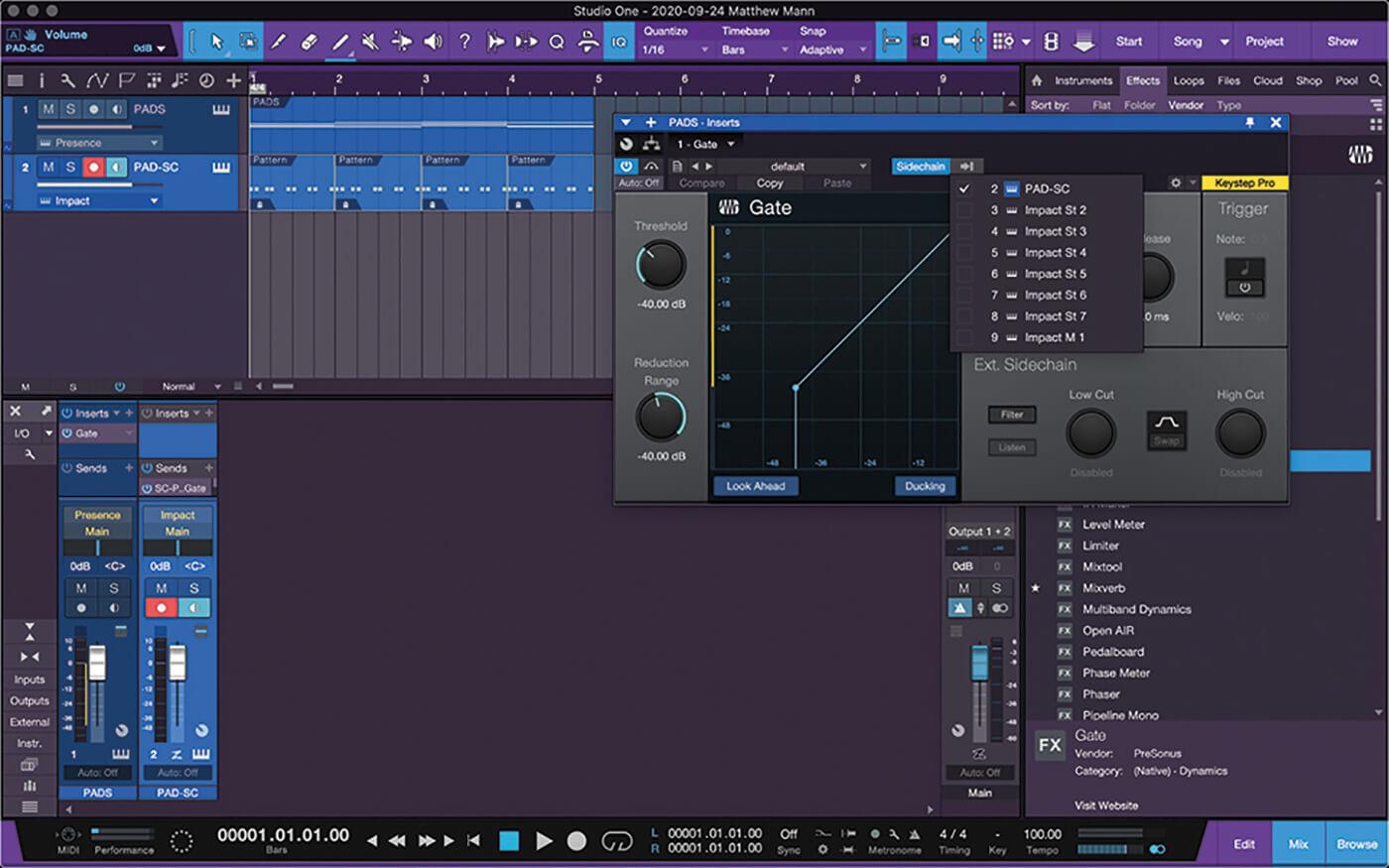 PreSonus Studio One Side Chain 5