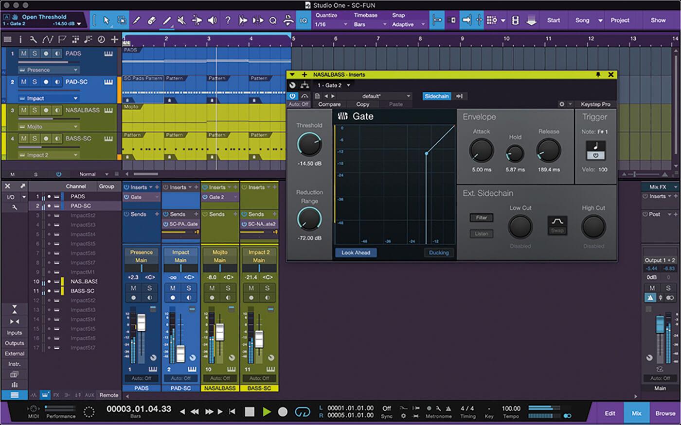 PreSonus Studio One Side Chain 8