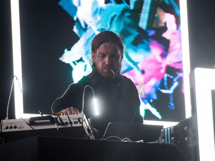 Aphex Twin onstage