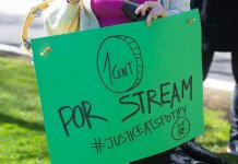 UMAW Spotify Protest