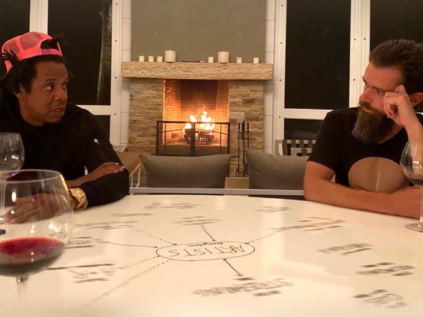Jack Dorsey and Jay-Z
