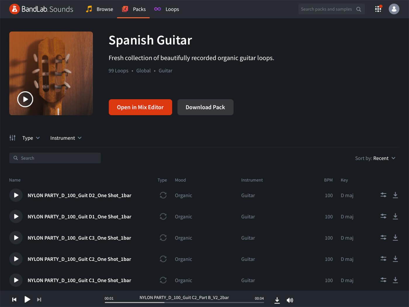 BandLab Sounds - Spanish Guitar