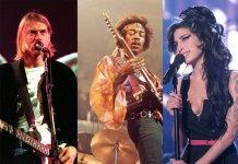 Kurt Cobain, Jimi Hendrix, Amy Winehouse
