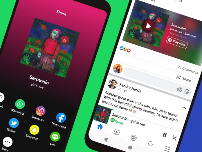 Spotify Facebook Miniplayer