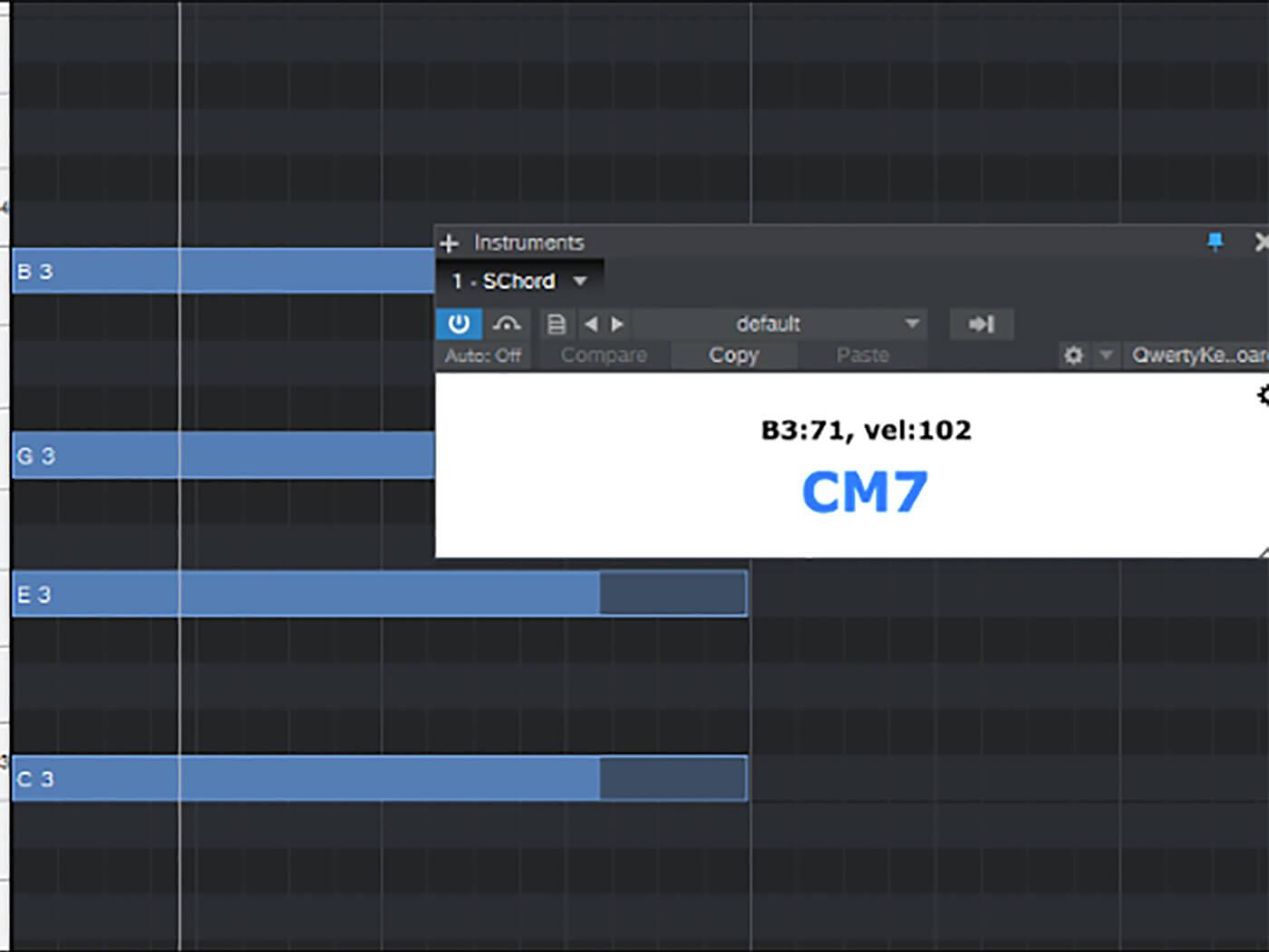 Ultimate MIDI Plugin Simple Chord Detection