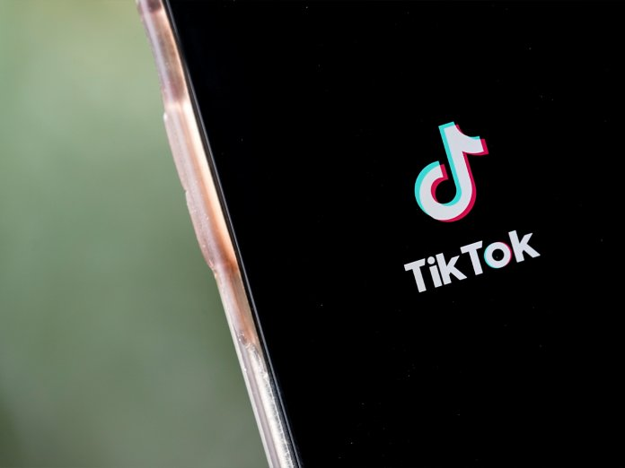 TikTok on phone