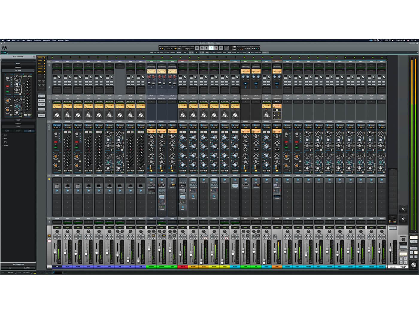 Universal Audio Luna API Console Emulation